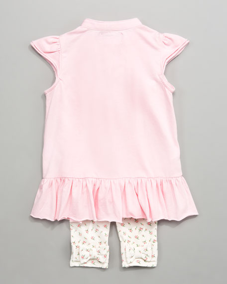 Pintuck Tunic with Leggings, 12-24 Months