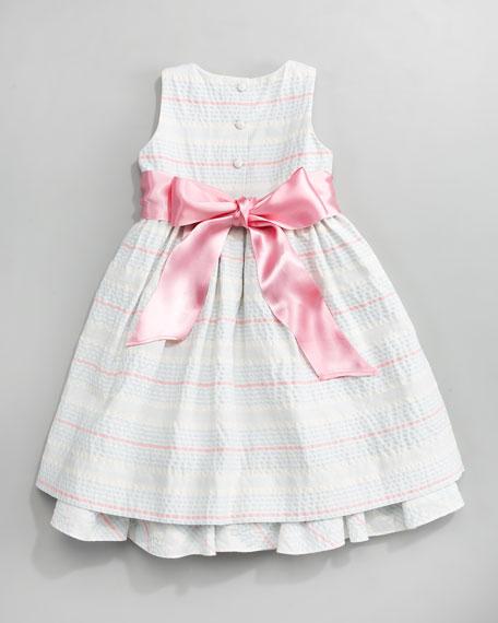 Ribbon Seersucker Dress, Sizes 4-6X