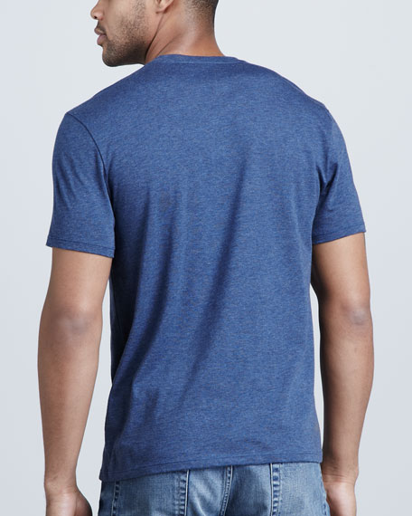 V-Neck Tee, Heather Fire