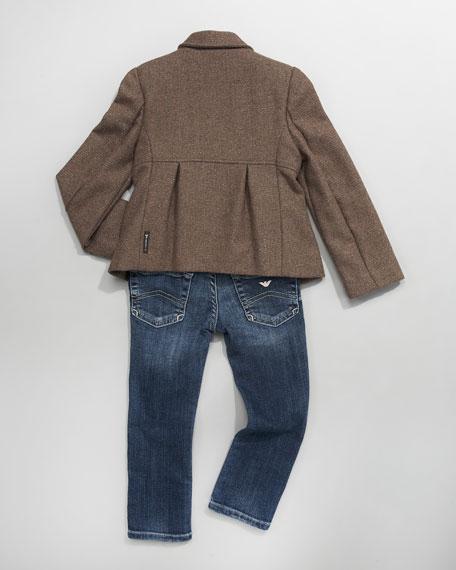 Double-Breasted Metallic Jacket
