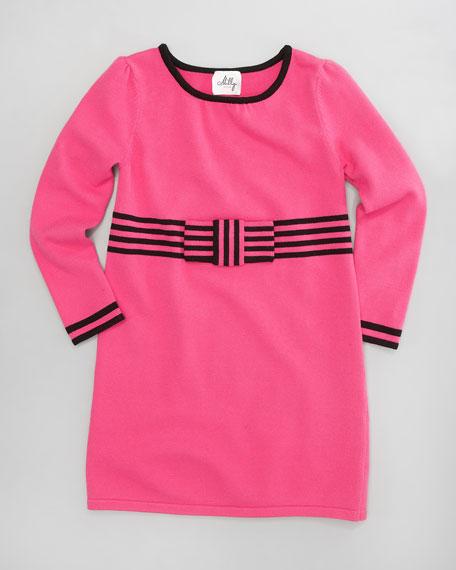 Betsy Bow-Knit Dress, Sizes 2-6