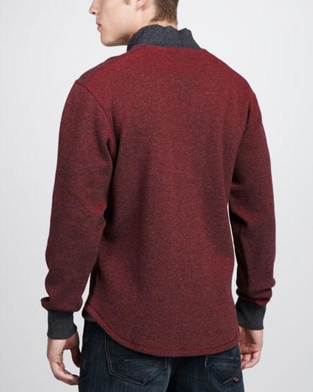 Gunther Half-Zip Sweater, Black