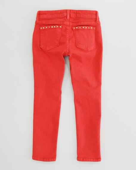 Stud-Trim Skinny Jeans