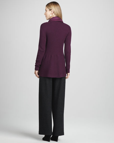 Wide-Leg Wool Pants, Women's