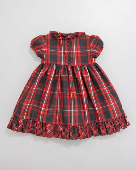 Tartan Plaid Taffeta Dress, 12-24 Months