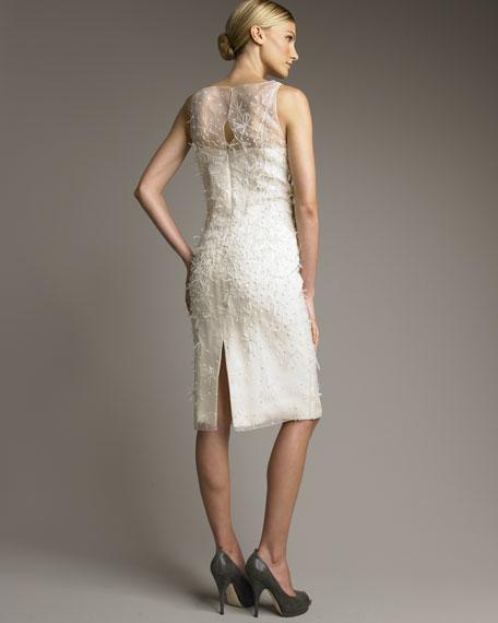 Silk Organza Feather Dress