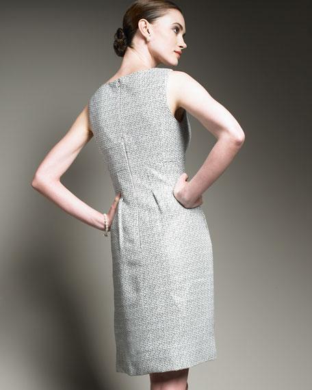 Basketweave Sheath Dress