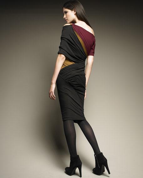 Tri-Color Twist Dress