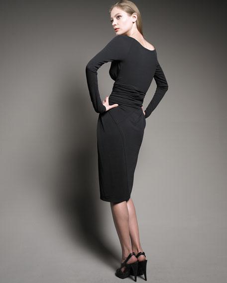 Long-Sleeve Infinity Dress