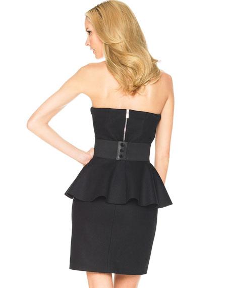 Peplum-Belt Dress