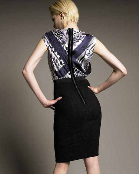 Jaguar-Print Dress