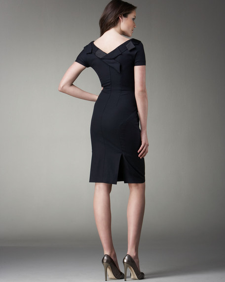 Fold-Front Dress