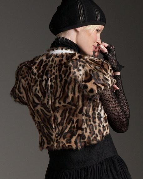 Evelyn Leopard-Print Goatskin Jacket