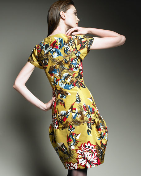 Leaf-Print Dress