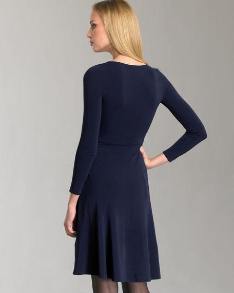 Matte Jersey Surplice Dress