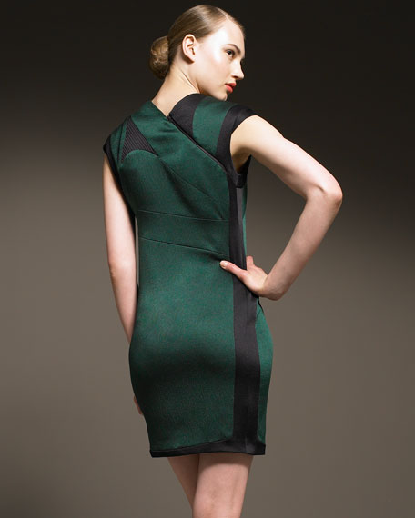 Silk Cap-Sleeve Dress