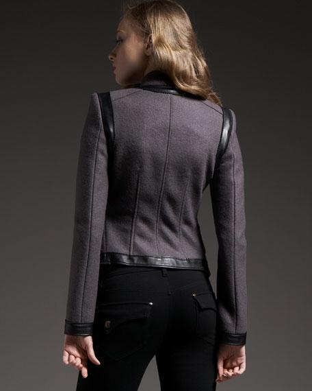 Fringe Bi-Fabric Jacket