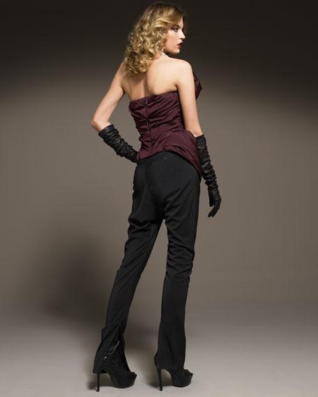 Silk Paper-Bag Pants