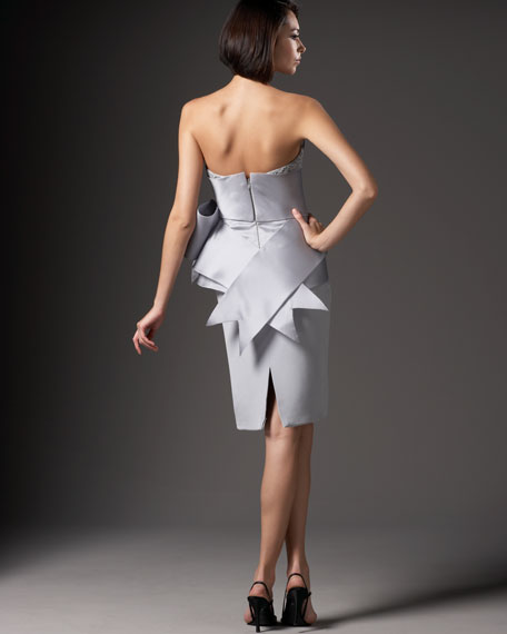Strapless Dress with Side Bow