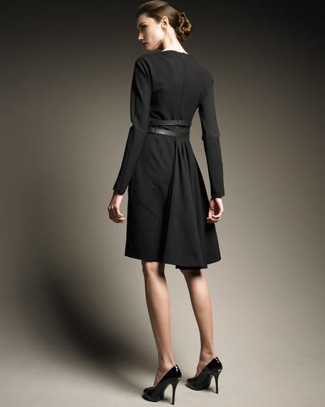 Leather Strap Dress