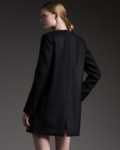 Coated Wool Coat