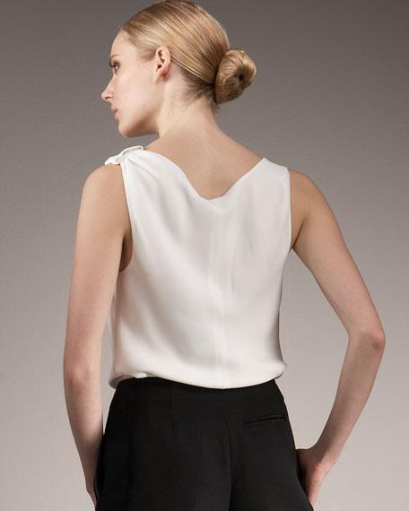 Drape-Front Blouse