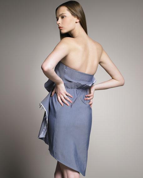Strapless Origami-Ruffle Dress