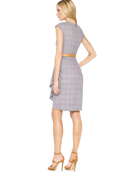 Belted Plaid Starlet Dress