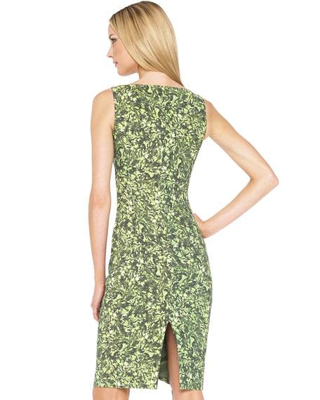 Leaf-Print Shift Dress