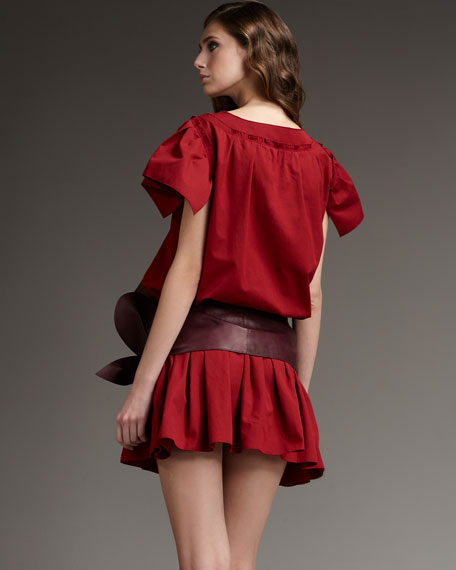 Drop-Waist Ruffle-Skirt Dress