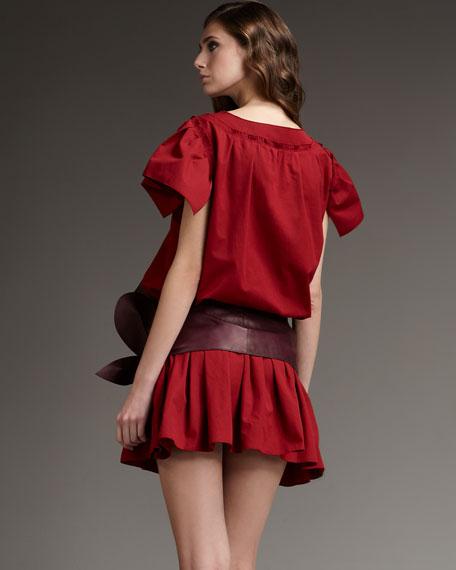 Drop-Waist Ruffle-Skirt Dress