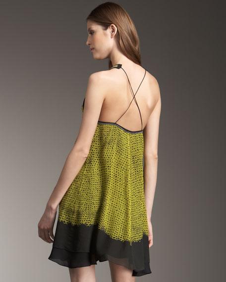 Shibori Chiffon Dress