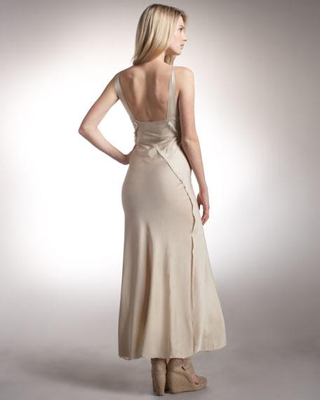 Long Charmeuse Slip Dress