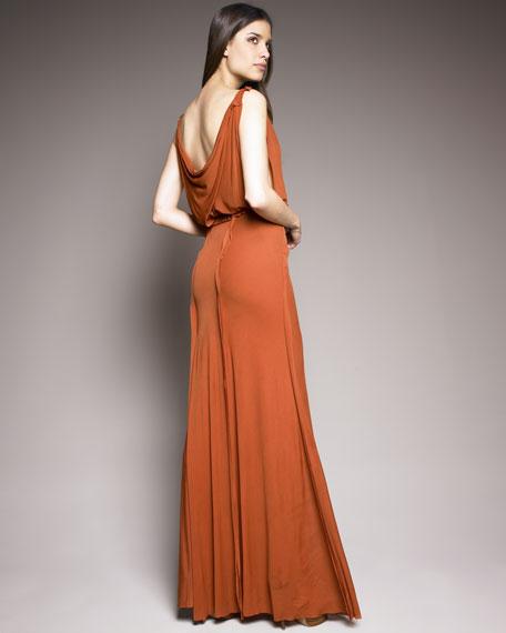 Vintage Cowl-Neck Gown