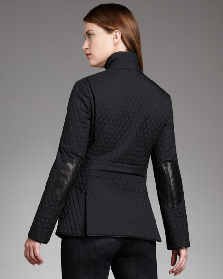 Quilted Elbow-Patch Jacket