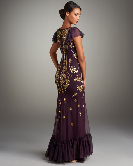 Sequined Florentia Gown