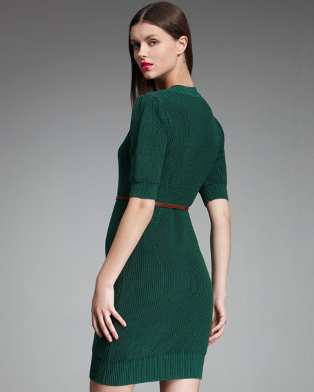 Belted Sweater-Dress