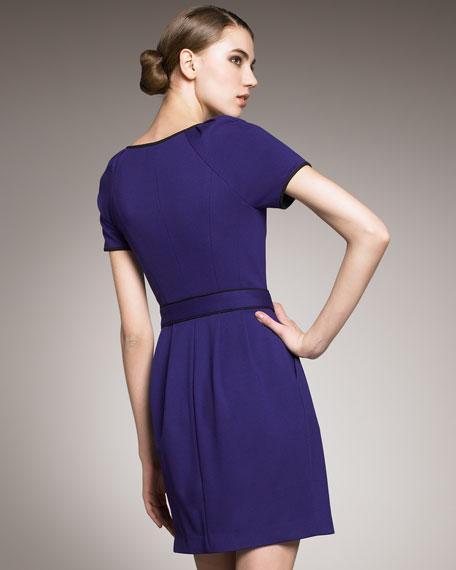 Rachela Tech Front-Zip Dress