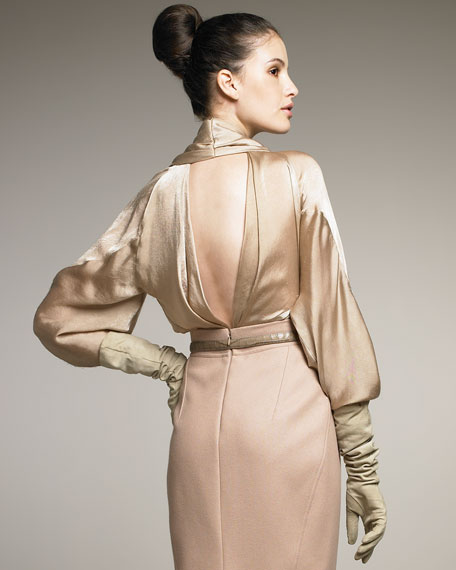 The Ultra Glam Satin Blouse