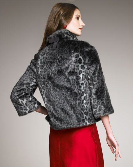 amelia faux-fur coat