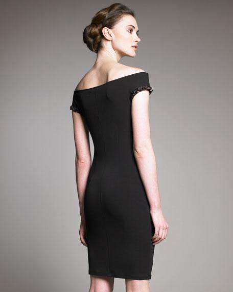 Off-the-Shoulder Beaded Dress