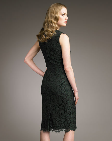Round-Neck Lace Dress