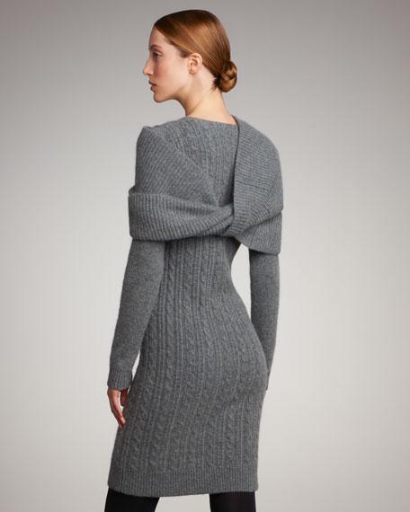 Cashmere Cable-Knit Dress