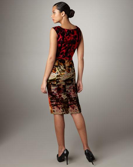 Olivia Beaded Velvet Dress