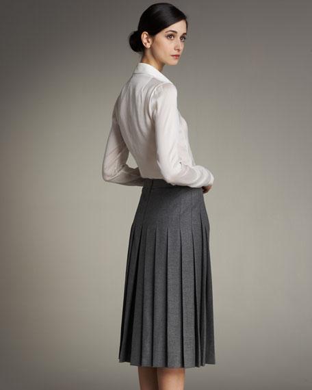 Pleated-Back Skirt