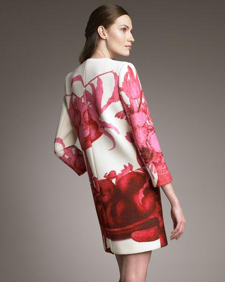 Floral-Print Coat
