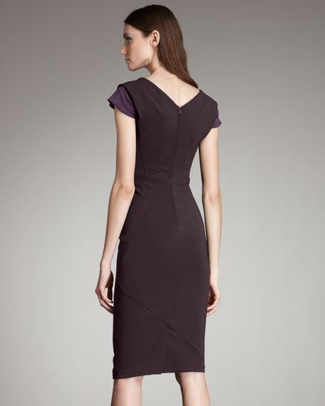 Pleated-Bust Dress
