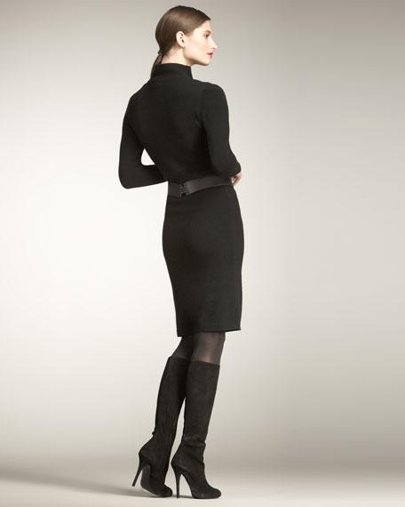 Split-Front Sweater Dress