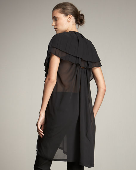 Ruffle-Detail Tunic/Dress