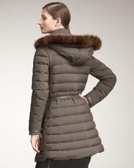 Windstorm Fox-Trim Puffer Jacket